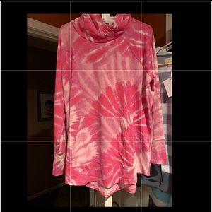 NWT LuLaRoe Amber size XL pink tie dye ~LQQK~
